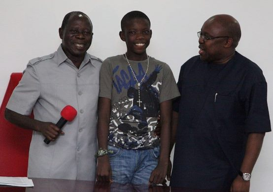 Daniel Oikhena (Middle),MD FAAN; George Uriesi (pictured right), Edo State Governor Adams Oshiomhole