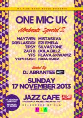 DRB LASGIDI, MAY7VEN, TIPSY, EZI EMELA & MORE TO PERFORM AT LONDON'S JAZZ CAFE FOR 'ONE MIC UK AFROBEATS SPECIAL 2′ ON NOVEMBER 17!