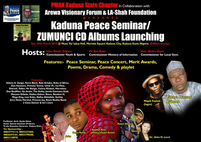 Kaduna Peace Seminar & Concert / Zumunci CDs Album Launching ft Khalilah Rose
