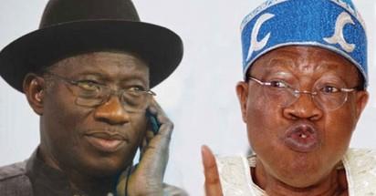 President Jonathan and Lai Muhammed