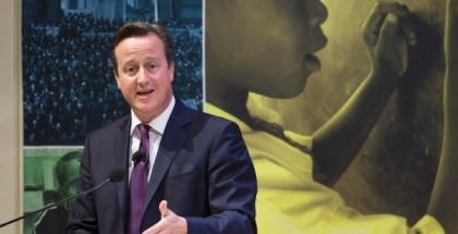 British Prime Minister David Cameron speaks during a high-level meeting on post-2015 anti-poverty goals at the Ford Foundation in New York, on Sept. 24, 2014. REUTERS/John Minchillo/Pool