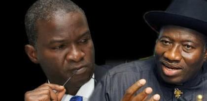 Lagos State Governor; Raji Fashola and Nigerian President Goodluck Jonathan