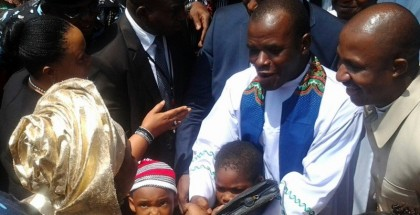 Fr. Mbaka received wife of the President, Patience Jonathan, few months ago, but said the Holy Spirit spoke to him that day saying something was not right.