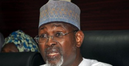 Chairman of the Independent National Electoral Commission (INEC) Attahiru Jega speaks in Abuja on February 7, 2015