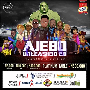 @ajebodcomedian Announces Date For Ajebounleashed 2.0, Turns Celebrities Into Different Superhero Characters