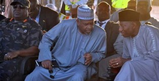 Colonel Sambo Dasuki and former president Goodluck Jonathan
